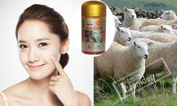 nhau thai cừu trị nám và tàn nhang hiệu quả