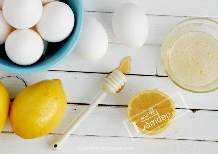 Chanh và lòng trắng trứng gà