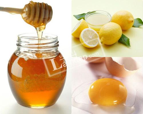 Image result for Làm đẹp da từ mật ong, chanh tươi với trứng gà