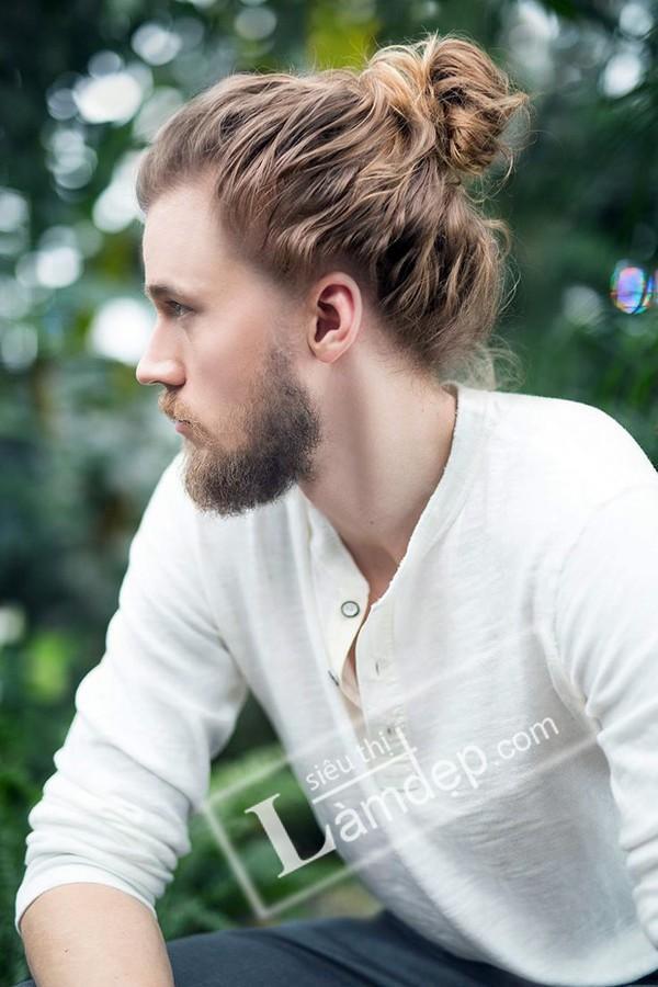 Kiểu tóc búi cho nam