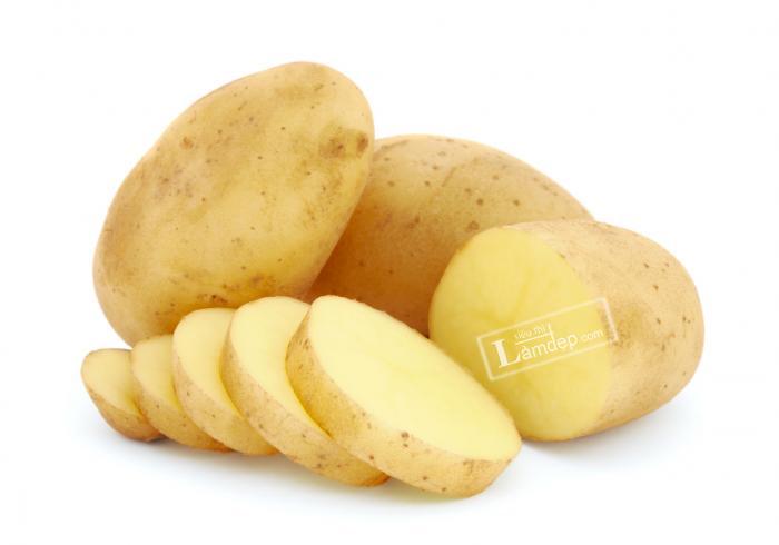 khoai tây trị nám da