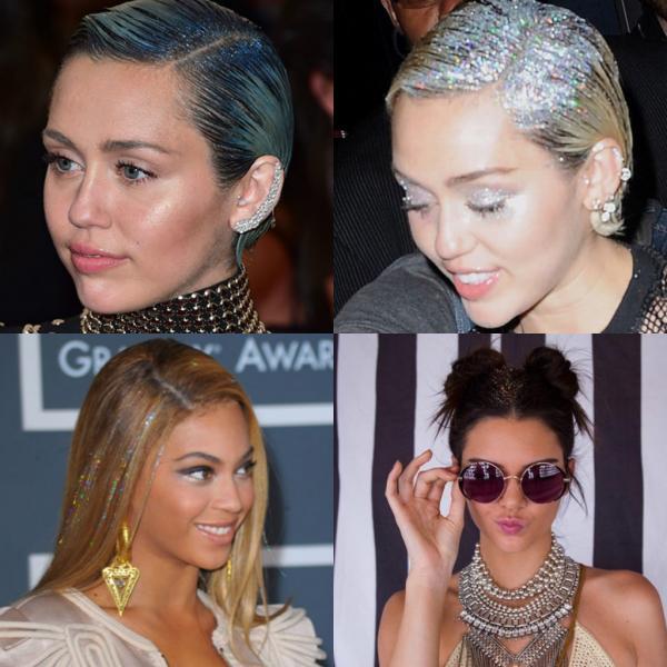 trang điểm tóc lấp lánh