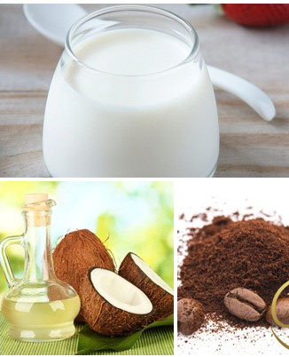Cà phế kết hợp với dầu dừa giúp làm trắng da