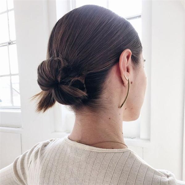 Búi tóc mùa đông xinh đừng hỏi 6