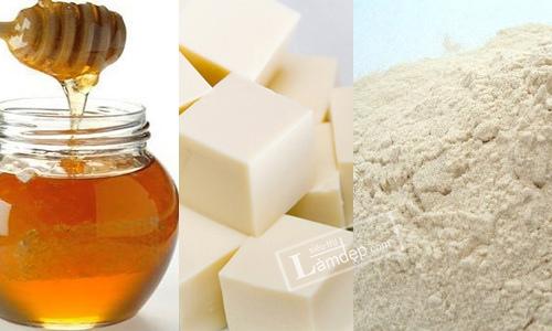 Đậu hũ, mật ong và bột mì